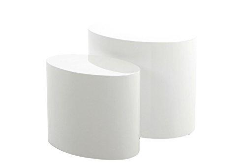 AC Design Furniture 63235 2-Satz Tisch Rico 2-er Set, weiß hochglanz