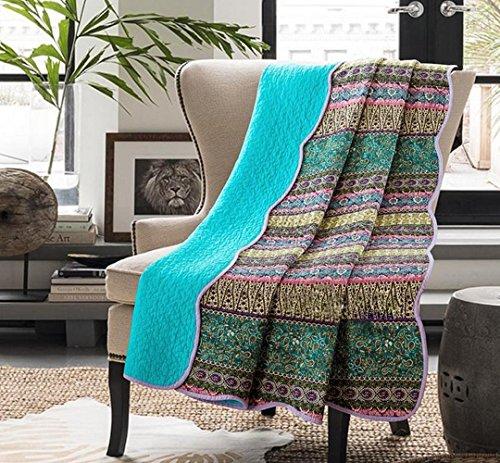 Alicemall Tagesdecke Baumwolle Bettüberwurf 150x200cm Sofa Couch Überwurf Decke Sommerdecke Gesteppt Steppdecke