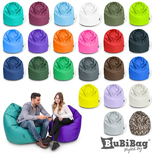 BuBiBag Sitzsack Sitzkissen Birnenform für In & Outdoor XXL 470 Liter - mit Styropor Füllung in 23 diversen Farben