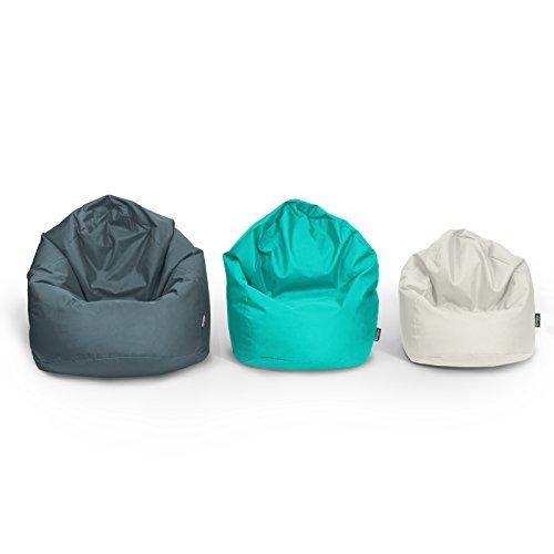 BuBiBag Sitzsack Tropfenform Beanbag Sitzkissen für In & Outdoor XL bis XXXL mit Styropor Füllung in 23 versch. Farben