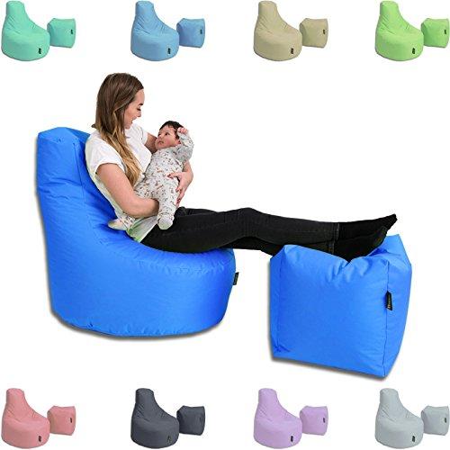 BuBiBag Stillkissen Set Kissen Lounge Gamer Sitzsack Sessel original Sitzkissen In & Outdoor geeignet fertig befüllt in 32 Farben