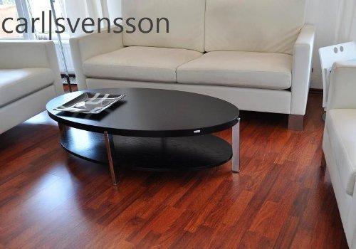 Carl Svensson DESIGN COUCHTISCH O-111 schwarz oval NEU Tisch