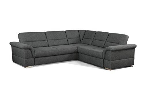Cavadore Eck-Sofa Tuluza mit Bett/Moderne Eck-Couch mit Schlaffunktion und Stauraum