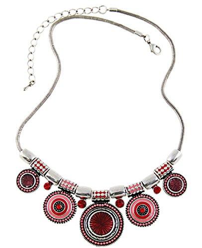DELEY Mode Choker Halskette Ethno Bohemia Anhänger Charm Kette Chunky Statement Bib Halskette