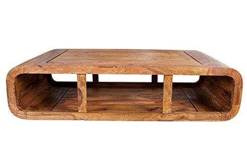 DuNord Design Couchtisch Holztisch TV-Board NATURE CUBE 100cm Sheesham Massivholz natur