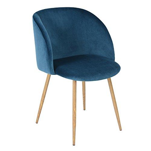EGGREE Stühle Samt Vintager Retro Sessel Polstersessel Samt Lounge Sessel Clubsessel Fernsehsessel 6 Farben
