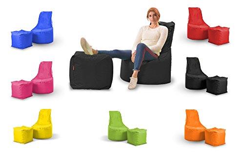 EasySitz Mia Sitzsack Sessel & Hocher Set