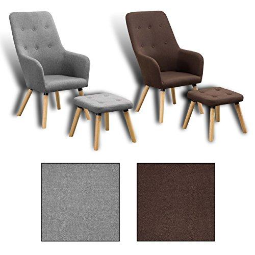 Estexo® Fernsehsessel mit Hocker, TV Sessel, Lounge, Relaxsessel, Polstersessel, Lesesessel