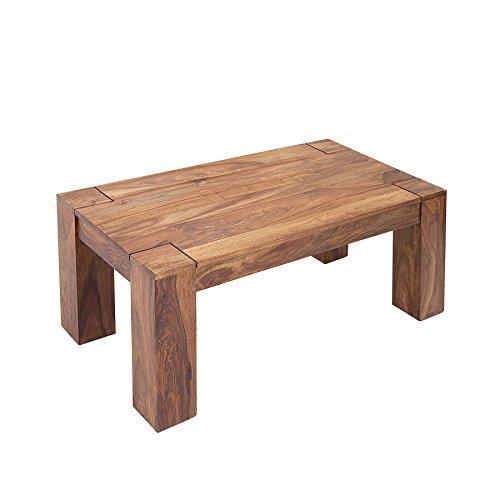 Exklusiver Massiver Sheesham Couchtisch MAKASSAR 100cm Holztisch Massivholz Wohnzimmertisch