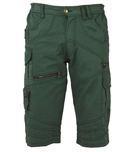 Guru-Shop Goa Hose, Goa Shorts, Herren Shorts Shiva, Baumwolle, Männerhosen Alternative Bekleidung