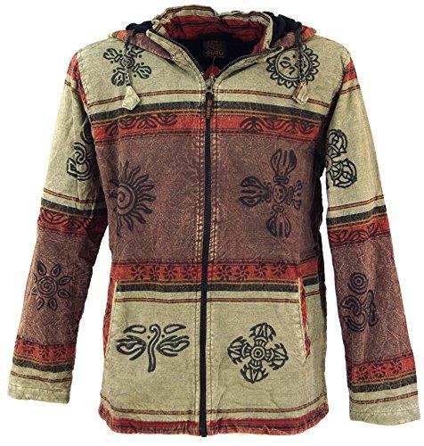 Guru-Shop Goa Jacke, Ethno Kapuzen Jacke, Herren, Jacken, Ponchos Alternative Bekleidung