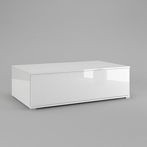 Labi Möbel Couchtisch Wohnzimmer Tisch Kaffeetisch in Weiß Hochglanz