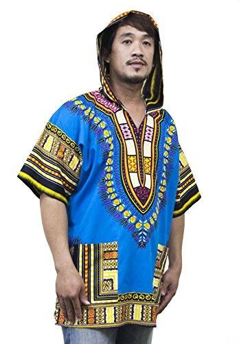 Lofbaz Unisex Dashiki Traditionelles Oberteil mit afrikanischem Druck