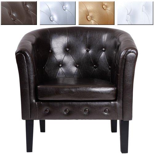 Miadomodo Chesterfield-Sessel Sitzmöbel Sitzgruppe im 1-er oder 2er-Set aus Holz Modern mit Farbwahl