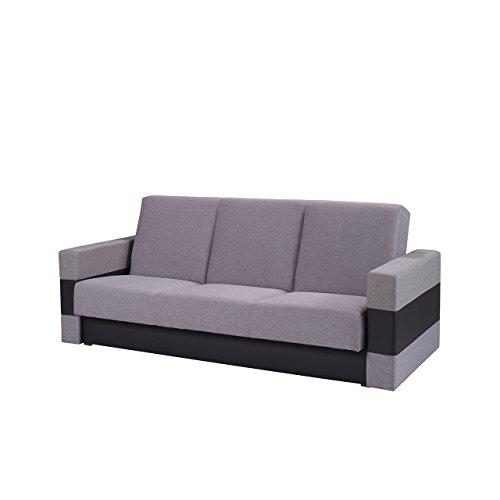 Mirjan24  Elegantes Sofa Gordia, Couch mit Bettfunktion, Polstersofa mit Bettkasten und Schlaffunktion, Bettsofa