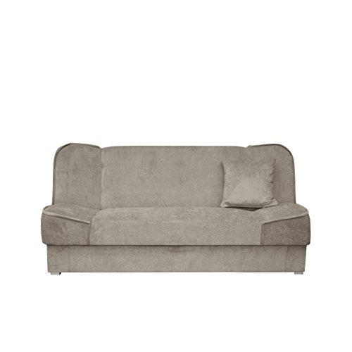 Mirjan24  Schlafsofa Gemini mit Bettkasten, 3 Sitzer Sofa, Couch mit Schlaffunktion, Bettsofa Schlafsofa Polstersofa Farbauswahl Couchgarnitur