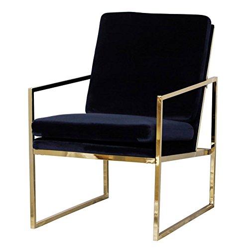 Mr.do Sessel Stuhl Samt Lounge Sessel, Kupfer blick Messing Plattiert Gold Finish Stahl/Metall ...