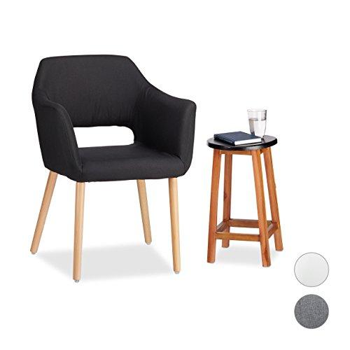 Relaxdays Polstersessel Design, Stoffbezug, Weich Gepolstert, Bequem, Sessel, HxBxT 84 x 62 x 56 cm, Verschiedene Farben