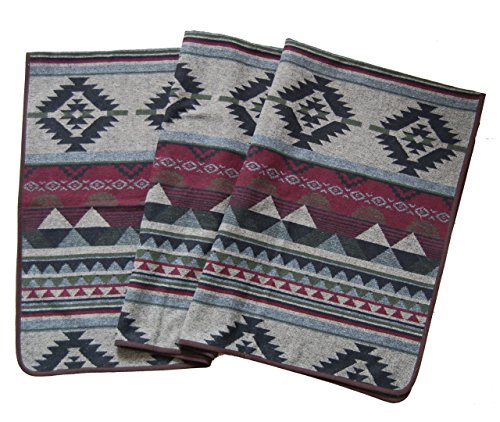Ruth&Boaz Outdoor Decke aus Wollmischgewebe mit ethnischem Inka Muster (L)