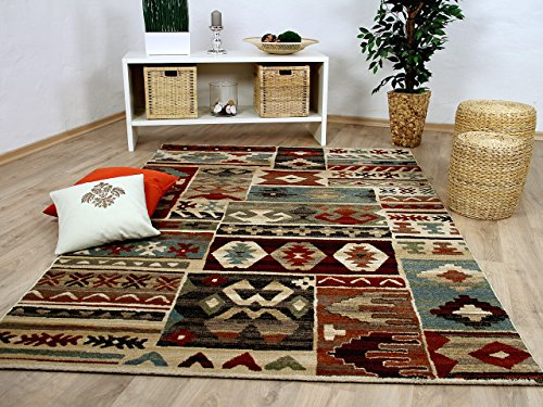 Sevilla Designer Teppich Klassik Ethno Bunt in 5 Größen
