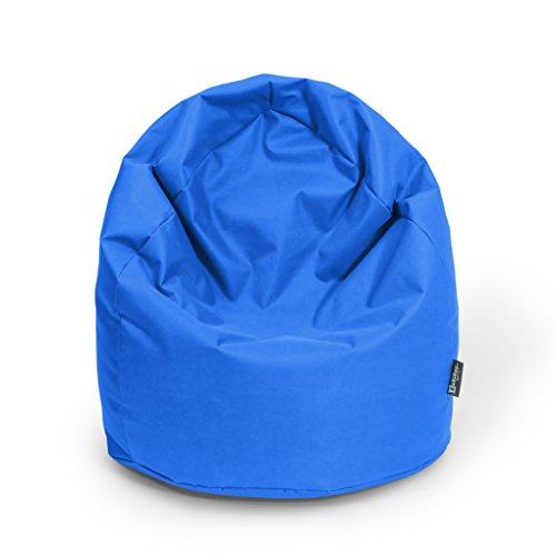 Sitzsack XL Blau mit Füllung BeanBag Sitzkissen Bodenkissen Kissen Sessel