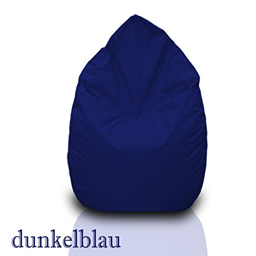 Sitzsack XL Dunkelblau mit Füllung BeanBag Sitzkissen Bodenkissen Kissen Sessel