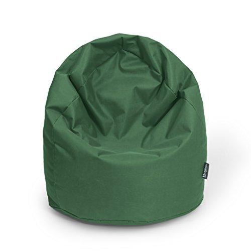Sitzsack XL Dunkelgrün mit Füllung BeanBag Sitzkissen Bodenkissen Kissen Sessel