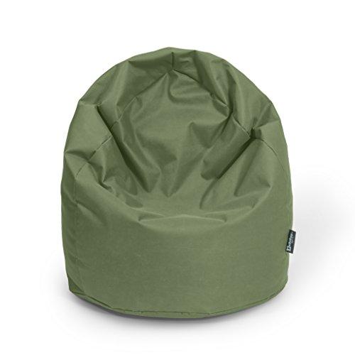 Sitzsack XL Khaki mit Füllung BeanBag Sitzkissen Bodenkissen Kissen Sessel