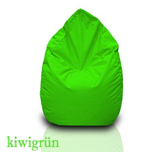 Sitzsack XL Kiwigrün mit Füllung BeanBag Sitzkissen Bodenkissen Kissen Sessel