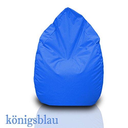 Sitzsack XL Königsblau mit Füllung BeanBag Sitzkissen Bodenkissen Kissen Sessel