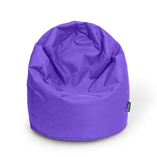 Sitzsack XL Lila mit Füllung BeanBag Sitzkissen Bodenkissen Kissen Sessel