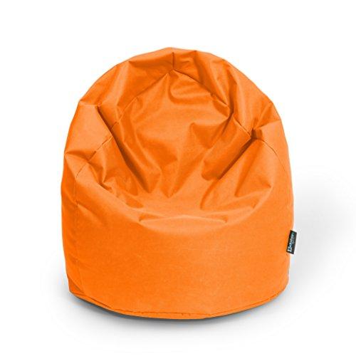 Sitzsack XL Orange mit Füllung BeanBag Sitzkissen Bodenkissen Kissen Sessel