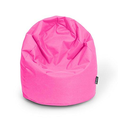 Sitzsack XL Pink mit Füllung BeanBag Sitzkissen Bodenkissen Kissen Sessel