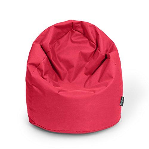Sitzsack XL Rot mit Füllung BeanBag Sitzkissen Bodenkissen Kissen Sessel