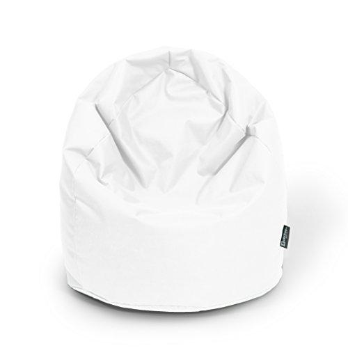 Sitzsack XL Weiß mit Füllung BeanBag Sitzkissen Bodenkissen Kissen Sessel
