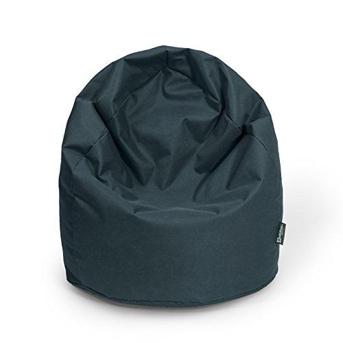 Sitzsack XL schwarz mit Füllung BeanBag Sitzkissen Bodenkissen Kissen Sessel