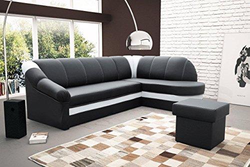 Sofa Couchgarnitur Couch Sofagarnitur BENANO Polstergarnitur Polsterecke Wohnlandschaft mit Schlaffunktion und Bettkasten, Ferderkern inside.