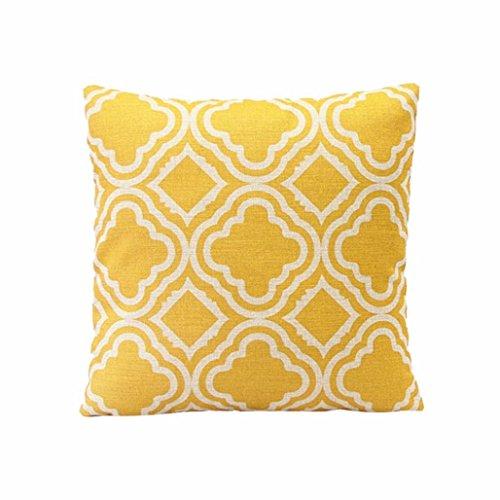 Sunnywill Rautenförmige Muster Leinen Throw Kissen Fall Kissen Cover Home Decor( Kissen ist nicht inbegriffen )