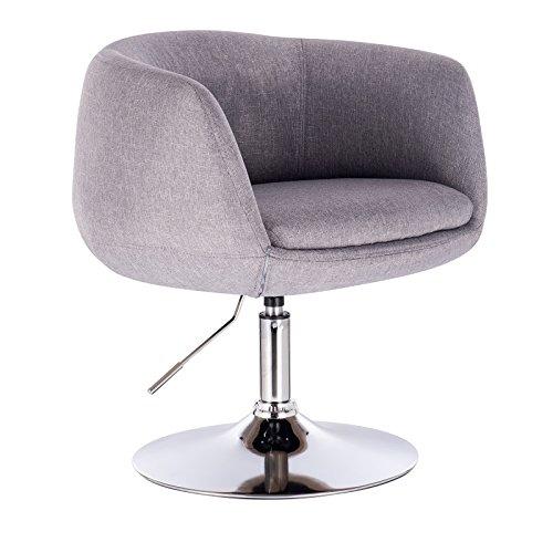 WOLTU 1 x Barsessel Loungesessel mit Armlehne verchromter Stahl Kunstleder 2 Farbig #827