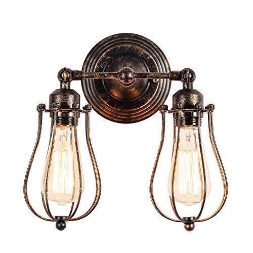 Wandlampe Retro Verstellbar Metall Wandlampe Antik Wandleuchte Vintage Lampen Landhausstil für Landhaus Schlafzimmer Wohnzimmer Esstisch