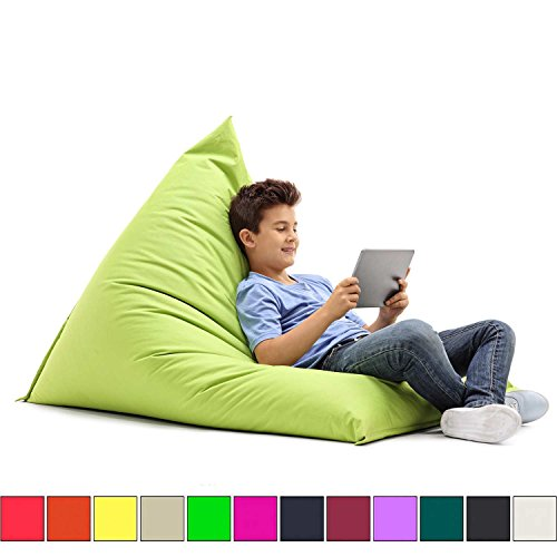XL Sitzsack (120x160cm / 270Liter Volumen) in 16 Farben wählbar - Indoor & Outdoor / EPS-Füllung (Made in Germany)