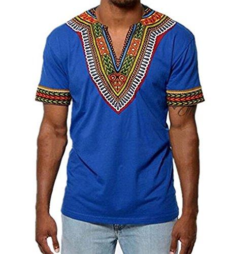 huateng Herrenoberteile Ethno-Style Kurzarm T-Shirt Bohemian Schnell trocknendes Strandt-Shirt Leisure Travel T-Shirt