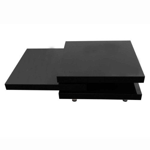 vidaXL Hochglanz Wohnzimmertisch Couchtisch Beistelltisch MDF Tisch Schwarz/ Weiß
