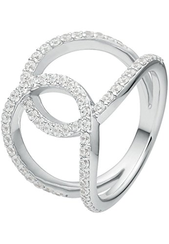 C-Collection by CHRIST Damen-Ring 925er Silber 62 Zirkonia (silber)