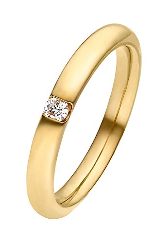 CHRIST Diamonds Damen-Ring 333er Gelbgold 1 Brillanten ca. 0,06 Karat (gold)