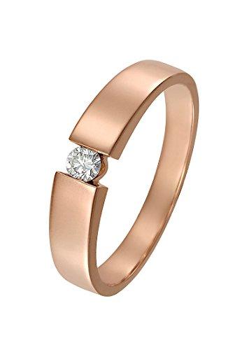 CHRIST Diamonds Damen-Ring 333er Rotgold 1 Brillanten ca. 0,05 Karat (rosé)