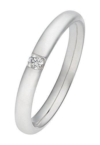 CHRIST Diamonds Damen-Ring 333er Weißgold 1 Brillanten ca. 0,06 Karat (weißgold)