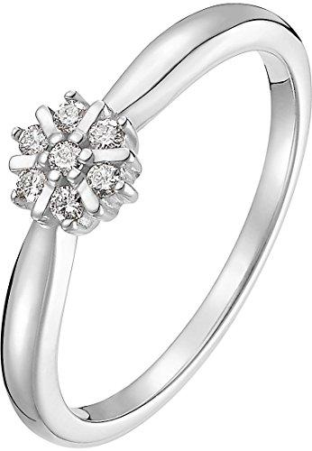 CHRIST Diamonds Damen-Ring 375er Weißgold 7 Diamant ca. 0,10 Karat (weißgold)