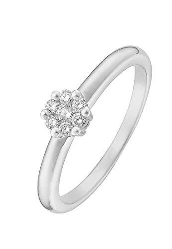 CHRIST Diamonds Damen-Ring 375er Weißgold 7 Diamant ca. 0,15 Karat (weiß)