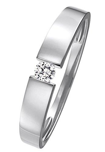 CHRIST Diamonds Damen-Ring 585er Gelbgold ca. 0,08 Karat (weißgold)
